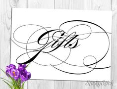 Gifts Sign for Your Wedding Reception Printable 5x7 by StickyStick, $5.00