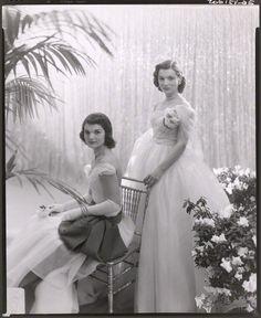 Jackie Bouvier Kennedy and Caroline Lee Bouvier Radziwill