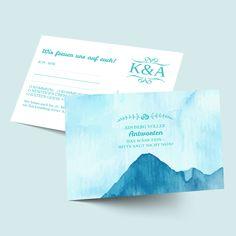 Antwortkarten zur Hochzeit: Berge versetzen-Design selbst gestalten