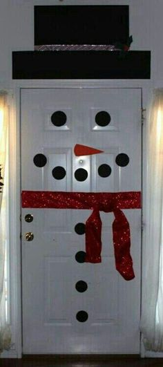 Very easy to do snowman for door or refrigerator. G;)