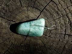 Amazonite Gemstone Wire Wrapped Pendant Charm by TheRainbowChildren on Etsy