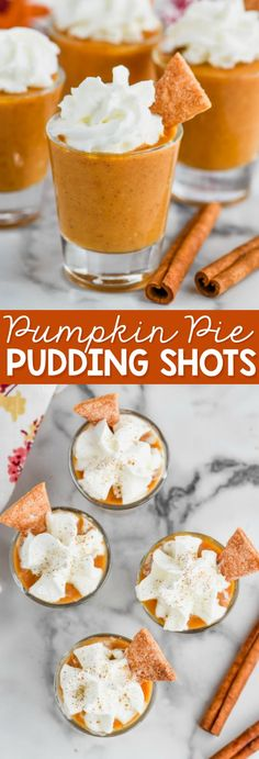 These Pumpkin Pie Pudding Shots are the best little bit of grown up dessert you could ask for, and even better they are SUPER easy!