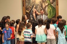 Queen Letizia and King Felipe visited National Museum for their 3rd anniversary as King and Queen visit http://www.regalfille.com/2017/6/letizia-at-third-anniversary.php