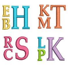 Stacked Monogram Alphabet Machine Embroidery Designs by JuJu