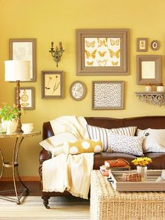 Living Room Ideas Yellow Walls have a sunny disposition? make sure your home reflects it with a