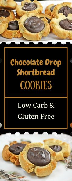 Chocolate Drop Cookies || Keto, Low Carb, Trim Healthy Mama, Gluten Free Desserts, Chocolate, Cookies