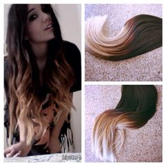 5 Star Ombre Balayage Cuticle Remy Hair Eurpopean Ombre Tape-in... ($260) ❤ liked on Polyvore featuring beauty products, haircare, hair styling tools, accessories, grey and hair accessories