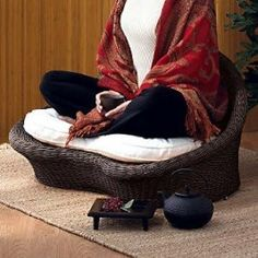 Meditation chair - I don't have one but I think I should get one. PRONTO