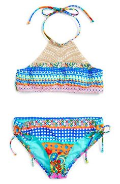 7f2195156f7b Free shipping and returns on Hobie Crochet Two-Piece Swimsuit (Big Girls) at