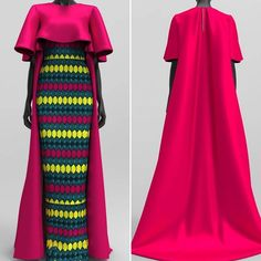 HAJI Two piece is now available in African Print with Bridal Satin Capes in your chosen fabric. Still time to get off on the HAJI… African Maxi Dresses, Latest African Fashion Dresses, African Dresses For Women, African Print Fashion, Africa Fashion, African Attire, African Wear Designs, Kimono Fashion, Fashion Outfits