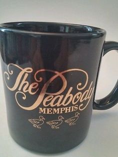 The Peabody Memphis coffee cup black