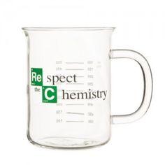 """""""Respect the Chemistry"""" Beaker Mug inspired by Breaking Bad (600 mL)"""