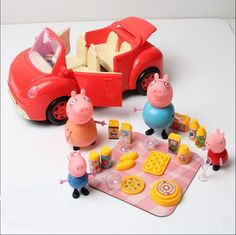 Movie TV Peppa Pig Family Picnic Suit and red sport car with Figures Xmas Gift - http://hobbies-toys.goshoppins.com/tv-movie-character-toys/movie-tv-peppa-pig-family-picnic-suit-and-red-sport-car-with-figures-xmas-gift/