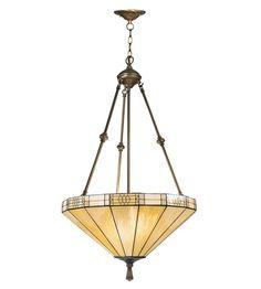 Dale Tiffany Umbrella Filigree Hanging Fixture 3 Light in Antique Brass Plating 8642/3LTJ #lightingnewyork #lny #lighting