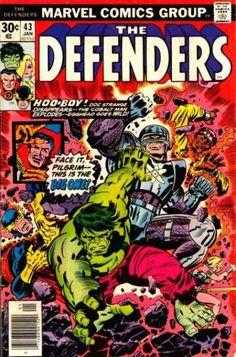 Defenders (Jan cover by Jack Kirby & Al Milgrom. Old Comic Books, Vintage Comic Books, Marvel Comic Books, Comic Book Artists, Vintage Comics, Comic Book Covers, Comic Book Characters, Marvel Characters, Silver Age Comics