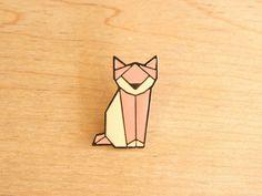 origami fox pin