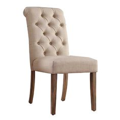 Found it at Wayfair - Pompon Tufted Side Chair
