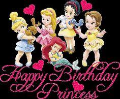 Happy Birthday Princess: Princesas Disney niñas - Imagenes y Tarjetas para Felicitar en Cumpleaños