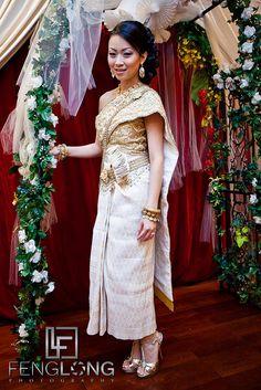 Traditional Cambodia Wedding Dress | Sophear & Jake's Cambodian Wedding | Oriental Pearl Restaurant | Atlanta Asian Wedding Photographer by Zac | FengLongPhoto.com, via Flickr