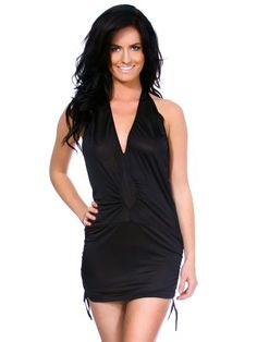 2e7bac96 Amazon.com: Simplicity Women's Deep V-Neck Backless Party Club Dress  Lingerie Sets, Black: Clothing