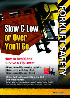 Forklift Safety Poster about driving slow and low to avoid roll over. Available as & in Australia and NZ (printed in Aus), and & in the USA and Canada (printed in US). Health And Safety Poster, Safety Posters, Drive Safe Quotes, Driving Memes, Safety Slogans, Bad Drivers, Industrial Safety, Workplace Safety, Safety First
