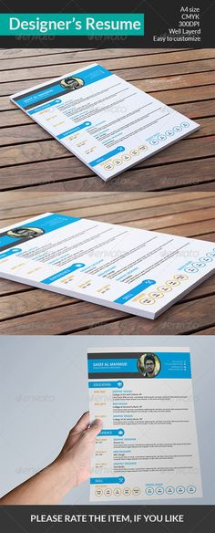 CV / Resume Package Ver 20 Print templates, Google fonts and