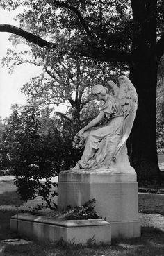 Hollywood Cemetery in Richmond Virginia overlooks the James River and is just beautiful. There are many lovely monuments, of which this is just one.