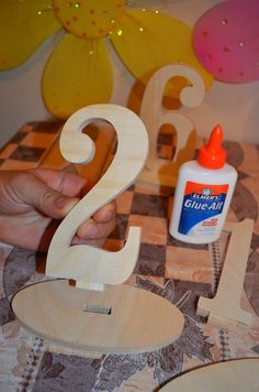 DIY Wedding Table Number Kit - Wood wooden Numbers - Craft, price per Number