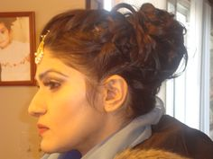 Bridal Contoured Makeup and updo