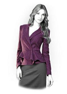 4181 Patrón chaqueta personalizada - patrón de costura PDF, Ropa Mujer