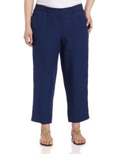 bcabb03875713 Jones New York Womens Plus-Size Crop Pant with Elastic Waist Girl Closet