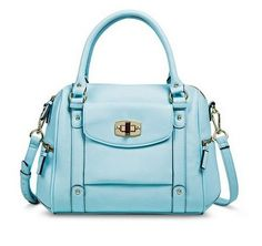 4f4abdb33464 Merona® Satchel Handbag with Removable Crossbody Strap - Light Blue