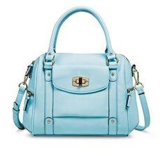 NWT - Merona® Light Blue Satchel Shoulder Handbag w/ Removable Crossbody Strap #Merona #Target #SatchelCrossbodyShoulderBag