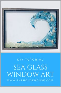 Click the link to see how I made this beautiful window art using sea glass! Click the link to see how I made this beautiful window art using sea glass! Sea Glass Mosaic, Sea Glass Art, Stained Glass, Sea Glass Beach, Caillou Roche, Broken Glass Art, Broken Glass Crafts, Shattered Glass, Sea Glass Crafts