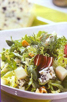 Σαλατα γιορτινη με ροκφορ και βαλσαμικο Greek Recipes, New Recipes, Salad Recipes, Salad Bar, Soup And Salad, Food Network Recipes, Food Processor Recipes, The Kitchen Food Network, Happy Foods