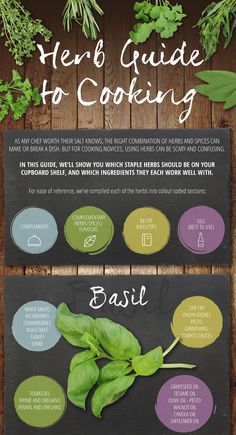 Infographic: A Handy Guide To Cooking With Herbs - DesignTAXI.com