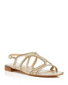 Stuart Weitzman Samoa Braided Metallic Sandals