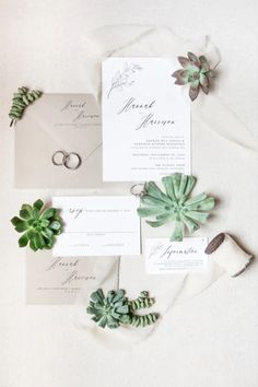 Succulents for fall wedding - simple wedding invitations with floral motif - Check out the top fall wedding flowers on WeddingWire! {Baxter and Bailey Designs} Save The Date Invitations, Simple Wedding Invitations, Wedding Programs, Wedding Stationery, Wedding Simple, Simple Weddings, Fall Wedding Flowers, Wedding Place Cards, Floral Motif