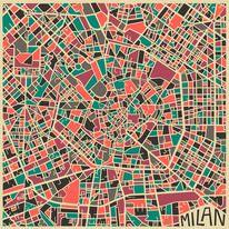 Illustration - flat colour / Modern Abstract City Maps — Designspiration