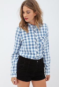 Collared Gingham Shirt | Forever 21