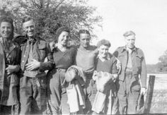 Land Girls with Italian POWs in East Lothian Women's Land Army, Land Girls, Ww2