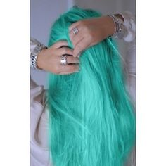 FROZEN Mint Green Hair Dye- 6 Teal Mint Hair Chalks | HairChalk
