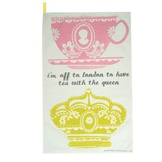 Tea with the Queen Teatowel $11.99 from www.thebritishchick.com