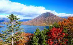 Indir duvar kağıdı Nantai, Volkan, Japon yerlerinden, Nikko Ulusal Parkı, Japonya, Asya