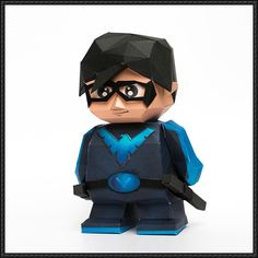 DC Comics - Chibi Nightwing Free Papercraft Download - http://www.papercraftsquare.com/dc-comics-chibi-nightwing-free-papercraft-download.html