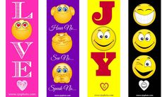 Printable Emoji Bookmarks