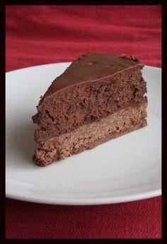 Entremets au chocolat croustillant et mousseux