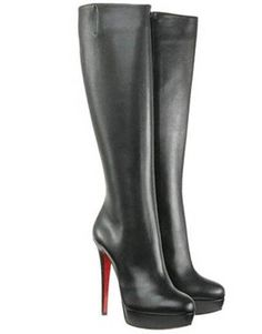 Christian Louboutin Boots Babel Platform Leather Black