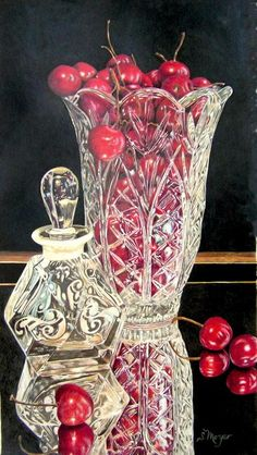 Cherries Jubilee Drawing. Susan Moyer. Colored Pencil