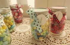 Last minute Easter gift idea! Can't go wrong with Mason Jars & Candy
